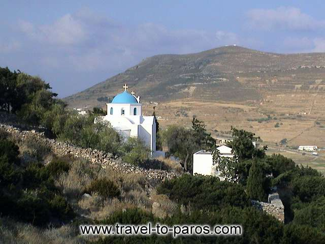 MONI LOGOVARDAS - On the way to Naoussa from Parikia you'll see the monastery of Logovarda which built on 17th century.