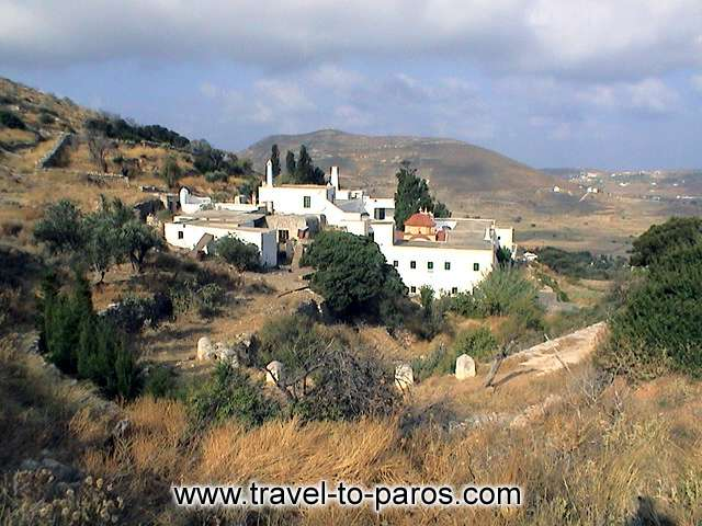 MONI LOGOMVARDAS - The monastery combines the castled architecture with the traditional Cycladic rythm.