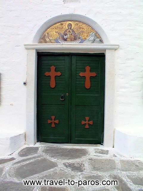 LOGOVARDAS MONASTERY - The entrance of the monastery of Logovardas.