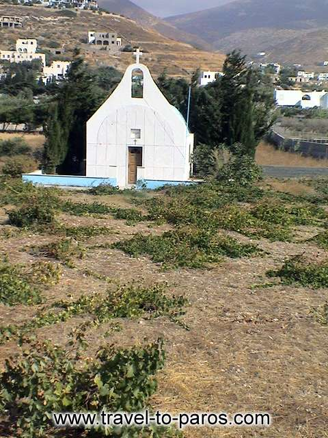 CHURCH AT PARASPOROS BEACH - A picturesque chapel that is found near to Parasporos beach.