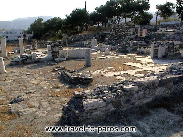 EARLY CRISTIAN BASILICA OF TREIS EKKLISIES - The archaeological site of Early Christian Basilica of Treis Ekklisies (three churches) is founded 1 km away from Parikia.