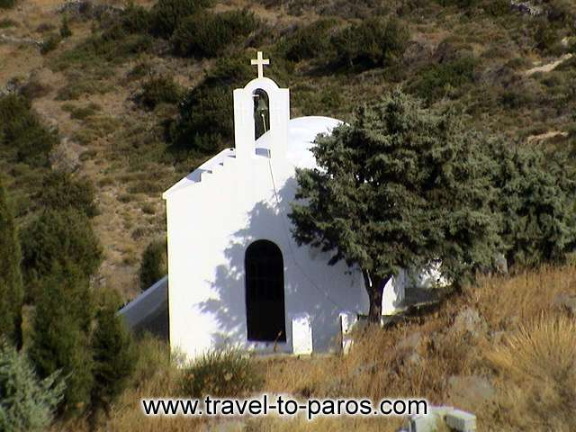SMALL CHURCH AND TREE - The monastery of Christou Dasson is sutuated on a hill and has a magnificent view.