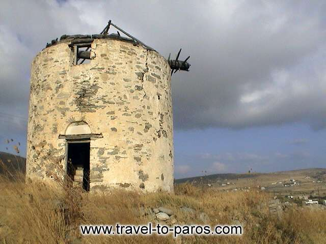 An old windmill. PAROS PHOTO GALLERY - PAROS WINDMILL