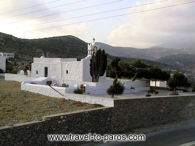 PAROS CHURCH - Around the island you'll see many churches. The white colour is the main characteristic of them.
