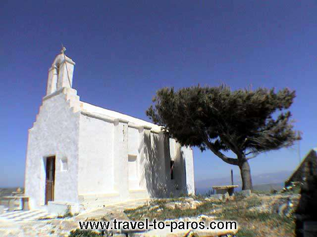 LEFKES - A little picturesque church in Lefkes.