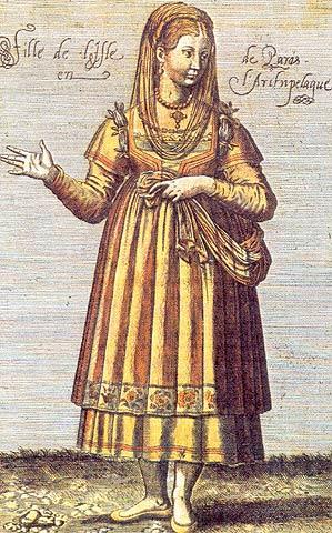 FOLKLORE COLLECTION OF NAOUSSA - PAROS - Tradinional costume of Paros.