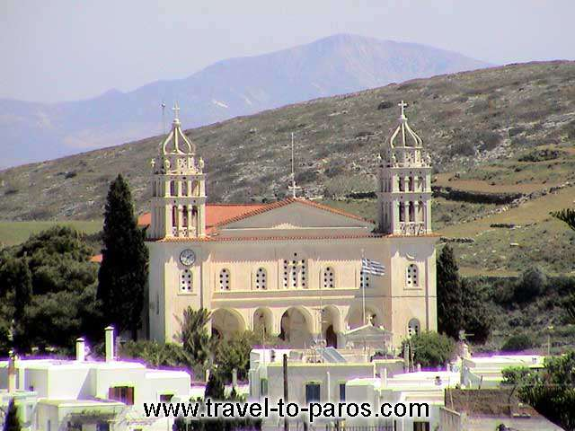 LEFKES CHURCH - Agia Triada(Holy Trinity)is the main church of Lefkes and the most important monument of the 19th century in Paros, as far as marble carving is concerned.