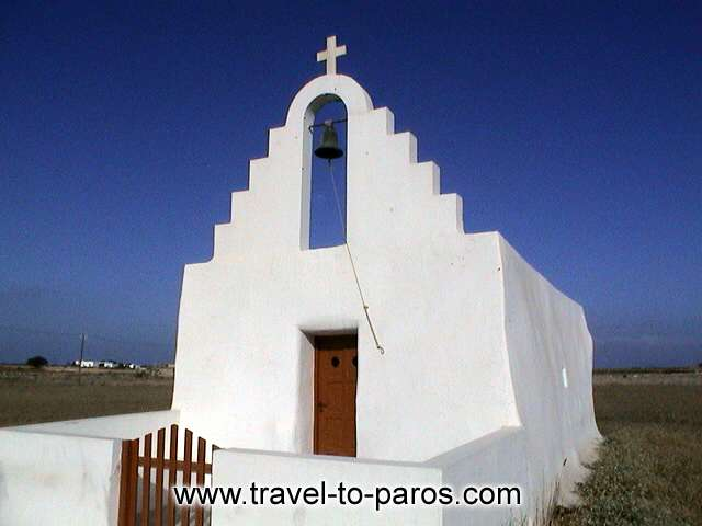 SANTA MARIA CHURCH - The church is built with the traditional architecture of Cyclades.