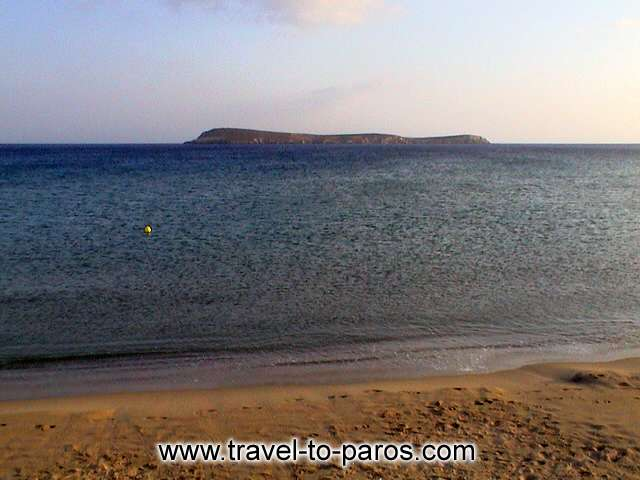 GOLDEN BEACH - Admire the Aegean Sea as seems from the beach of Chryssi Akti.