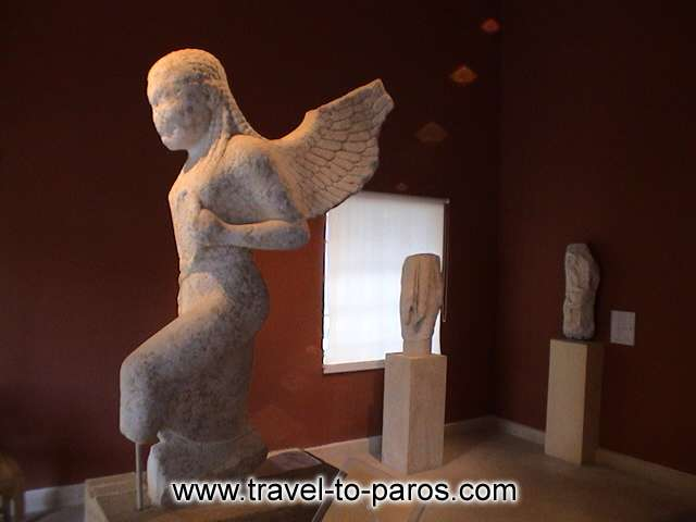 ARCHAEOLOGICAL MUSEUM OF PAROS - The archaic marble statue of Gorgo.