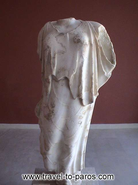 ARCHAEOLOGICAL MUSEUM OF PAROS - The Victory of Paros. The marble statue was found to the castla of Parikia.