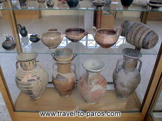 ARCHAEOLOGICAL MUSEUM OF PAROS - Appreciable samples of traditional ceramic art.