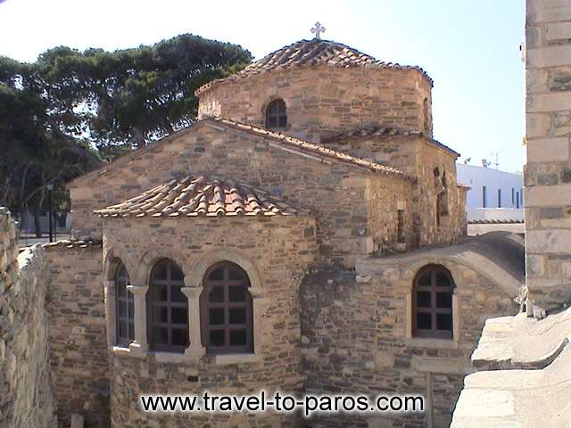 EKATONTAPYLIANI CHURCH - In the Justinian period, the roof of the church is being substituted by a dome and vaults.