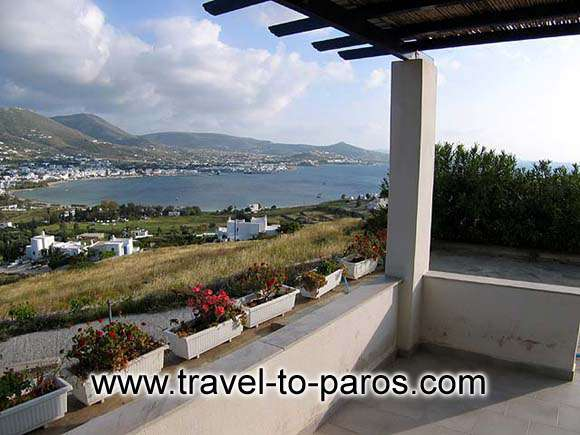 Great view from Patelis Apartments paros island CLICK TO ENLARGE