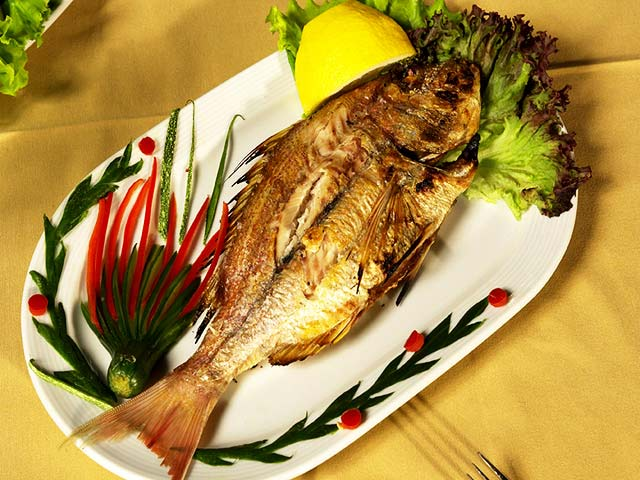 In our restaurant we serve fresh fish from Paros CLICK TO ENLARGE