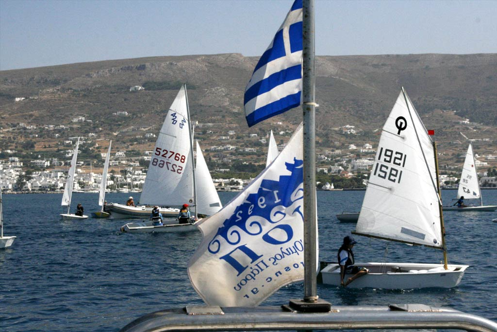 The National Sailing Championship of 420 class vessels, will be held in the bay of Parikia, on Sunday 08 April to M. Wednesday, April 11. <br><br>