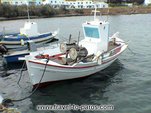 DRIOS - Fishing boat in Drios small port.
