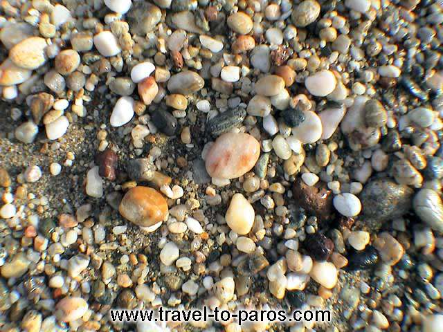 DRIOS - The pebbles of the beach of Drios.
